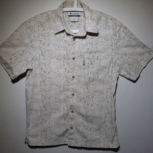 Columbia Button Short Sleeve Forest Comouflage
